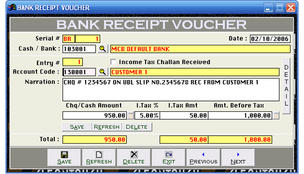 Financial accounts account types accounts master file bank receipt voucher altavistaventures Images