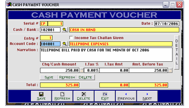 cash receipt voucher software free