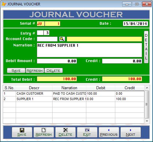 how to prepare journal voucher
