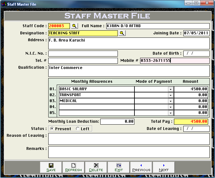 Cleantouch School Finance Controller 3.0