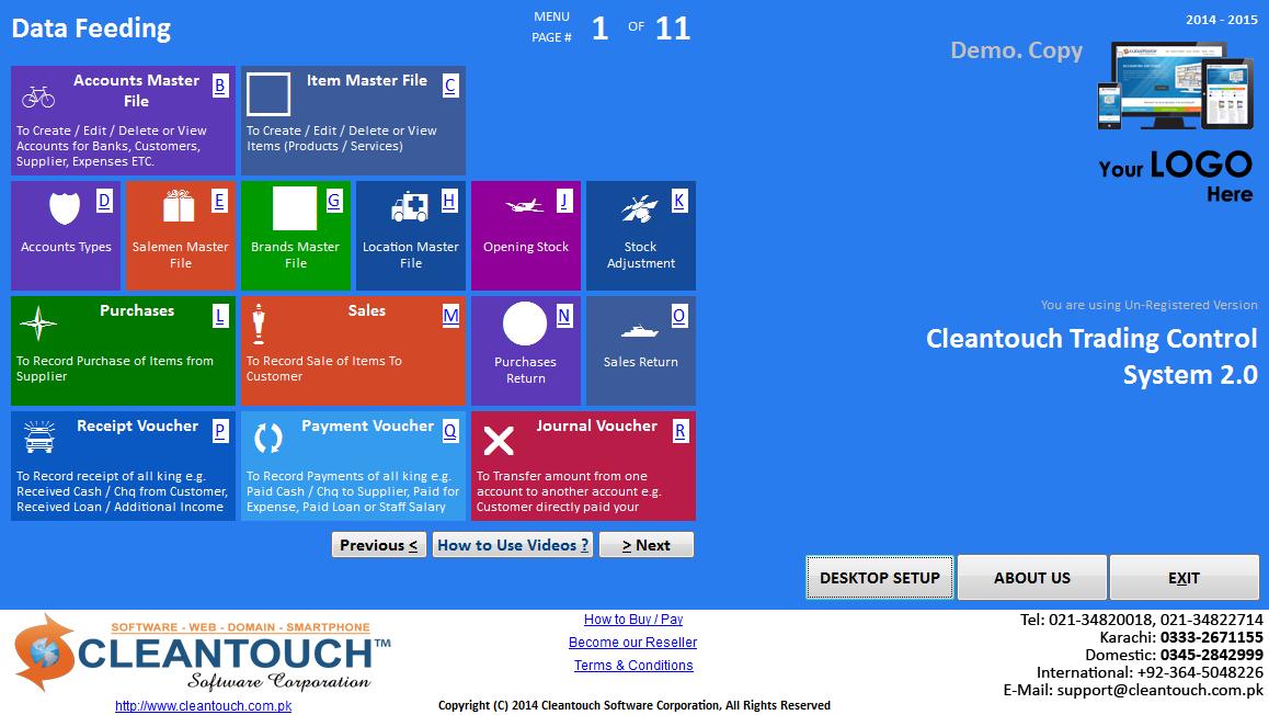 Windows 8 Based Metro Menu in Accounting Software | Modern UI in